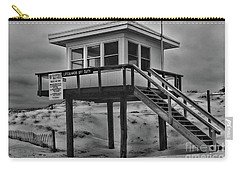 Lifeguard Station 2 In Black And White Carry-all Pouch by Paul Ward