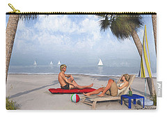 Carry-all Pouch featuring the digital art Life's A Beach by Jayne Wilson