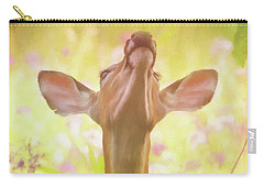 Carry-all Pouch featuring the painting Lift Up Your Eyes - Wildlife Art by Jordan Blackstone