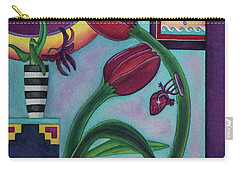 Carry-all Pouch featuring the painting Lifting And Loving Each Other by Lori Miller