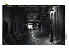 Light Along The Church In Black And White Carry-all Pouch