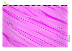Light And Dark Pink Swirl Carry-all Pouch by Linda Velasquez