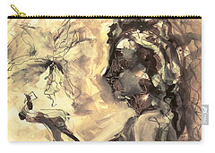 Carry-all Pouch featuring the painting Light And Shadow by Mary Schiros