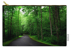 Light And Shadow On A Mountain Road Carry-all Pouch