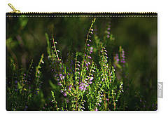 Light And Shadows On Common Heathers Carry-all Pouch