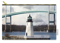 Carry-all Pouch featuring the photograph Light At Goat Island by Robin-Lee Vieira