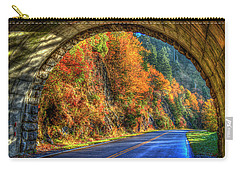 Carry-all Pouch featuring the photograph Light At The End Of The Tunnel Blue Ridge Parkway Art by Reid Callaway