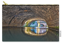 Carry-all Pouch featuring the photograph Light At The End Of The Tunnel by Frans Blok