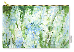 Light Blue Grape Hyacinth. Carry-all Pouch by Laurie Rohner