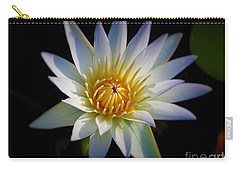 Carry-all Pouch featuring the photograph Light Blue Water Lily by Chad and Stacey Hall