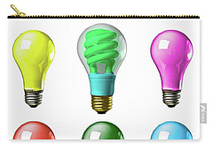 Light Bulbs Of A Different Color Carry-all Pouch by Bob Orsillo