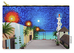 Light House Playa Del Carmen Version II Carry-all Pouch by Angel Ortiz