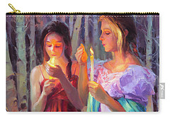 Carry-all Pouch featuring the painting Light In The Forest by Steve Henderson