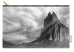 Carry-all Pouch featuring the photograph Light On Shiprock by Jon Glaser