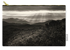 Light On The Mountains In Black And White Carry-all Pouch