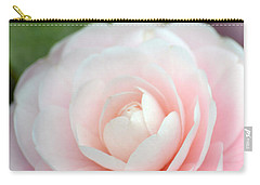 Light Pink Camellia Flower Carry-all Pouch