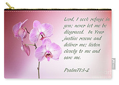 Light Pink Orchid Psalms 71 Carry-all Pouch
