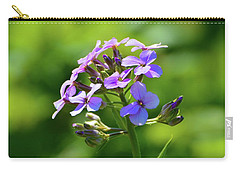 Carry-all Pouch featuring the photograph Light Purple Flowers  by Lyle Crump