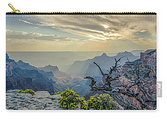 Carry-all Pouch featuring the photograph Light Seeks The Depths Of Grand Canyon by Gaelyn Olmsted
