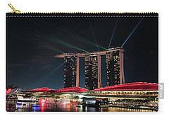 Light Show On Singapore Harbour Carry-all Pouch