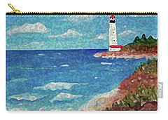 Carry-all Pouch featuring the painting Light The Way by Sonya Nancy Capling-Bacle