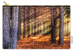 Carry-all Pouch featuring the photograph Light Thru The Trees by Sumoflam Photography