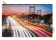 Light Trails On I-278 Near Triboro Bridge Carry-all Pouch