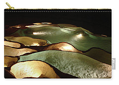 Light Up The Dark - Lit Natural Rock Water Basins In Underground Cave Carry-all Pouch