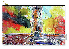Lighthouse After Storm Carry-all Pouch by Kovacs Anna Brigitta