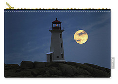 Lighthouse And Full Moon Carry-all Pouch