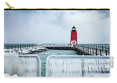 Lighthouse And Ice Carry-all Pouch