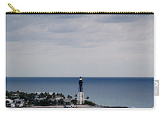 Lighthouse And Rain Clouds Carry-all Pouch