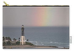 Lighthouse And Rainbow Carry-all Pouch