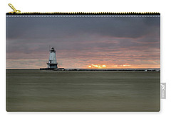 Lighthouse And Sunset Carry-all Pouch
