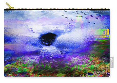 Lighthouse Angel Purple In Hotty Totty Style Carry-all Pouch by Catherine Lott