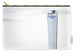 Carry-all Pouch featuring the photograph Lighthouse At Cape Jervis by Stephen Mitchell