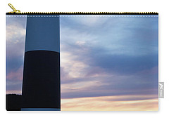 Lighthouse At Sister Bay Marina At Sunset Carry-all Pouch