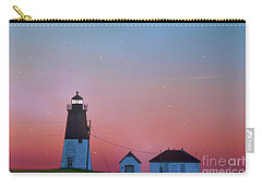 Carry-all Pouch featuring the photograph  Lighthouse At Sunrise by Juli Scalzi