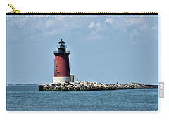Carry-all Pouch featuring the photograph Delaware Breakwater East End Lighthouse - Lewes Delaware by Brendan Reals
