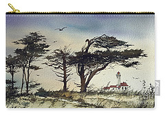 Carry-all Pouch featuring the painting Lighthouse Coast by James Williamson