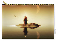 Lighthouse In A Calm Sea Carry-all Pouch