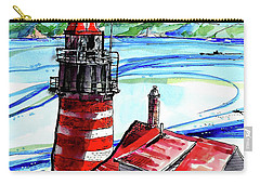 Lighthouse In Maine Carry-all Pouch by Terry Banderas
