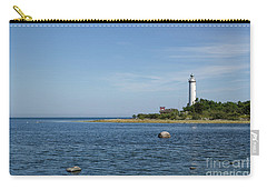 Carry-all Pouch featuring the photograph Lighthouse In The Baltic Sea by Kennerth and Birgitta Kullman