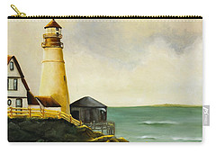 Lighthouse In Oil Carry-all Pouch