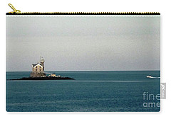 Lighthouse Of Long Island Sound Execution Rocks Carry-all Pouch