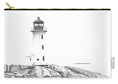 Lighthouse Of Peggy's Cove Carry-all Pouch by Patricia Hiltz