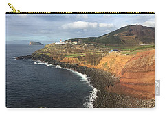 Lighthouse On The Coast Of Terceira Carry-all Pouch by Kelly Hazel