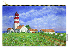 Lighthouse Pasture Carry-all Pouch by Val Miller