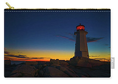 Lighthouse Sunset Carry-all Pouch by Andre Faubert