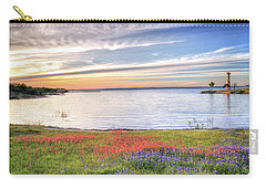 Lighthouse Sunset At Lake Buchanan Carry-all Pouch